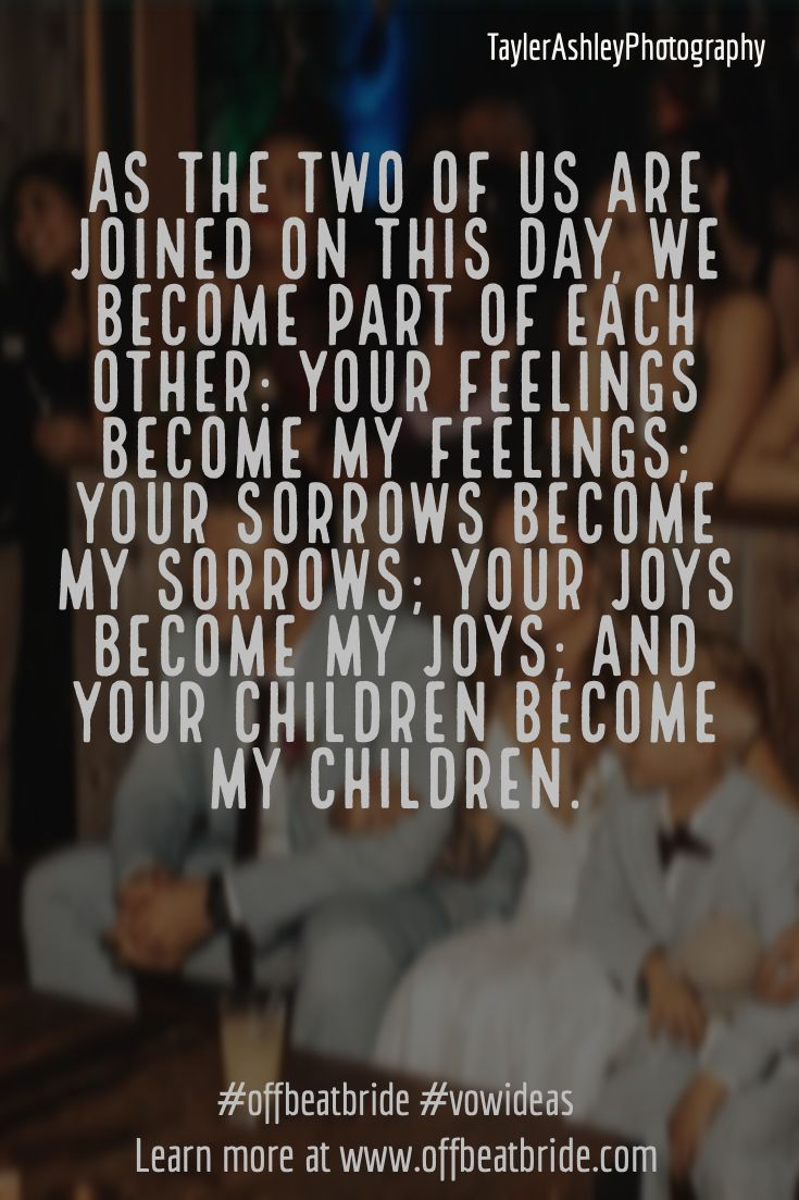 Wedding Vows For Blended Families Kids Say We Do Too In 2020 Best Wedding Vows Blended Family Wedding Blended Family Wedding Ceremony