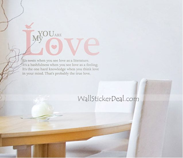 You Are My Love Quotes Wall Stickers