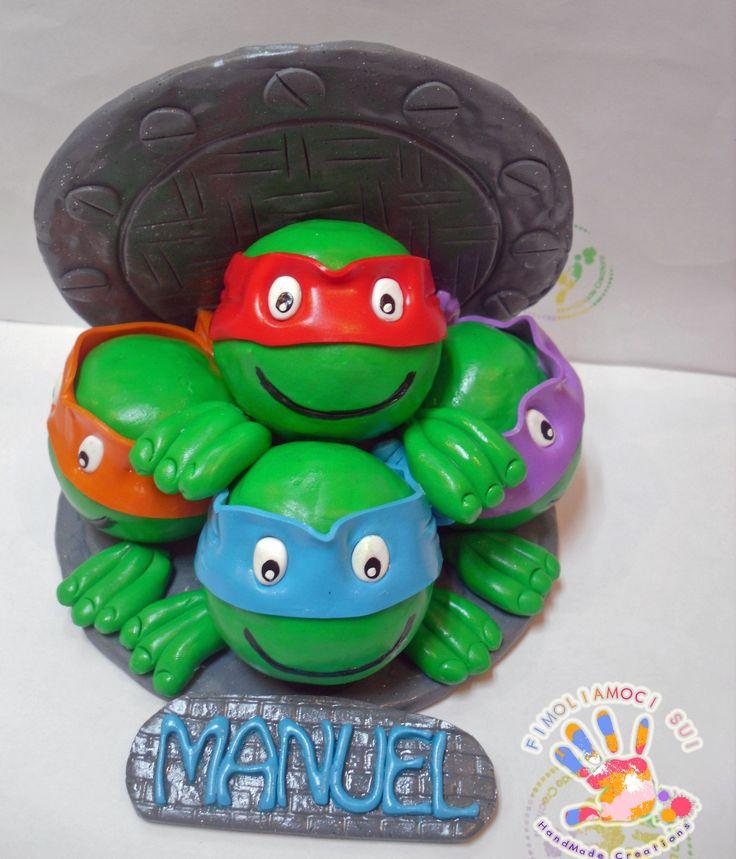 Cake Topper in fimo THE TURTLES, le tartarughe ninja
