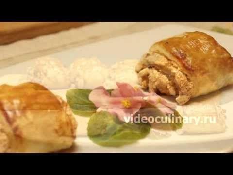 Рецепт - Ореховые пирожные от http://videoculinary.ru