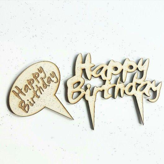 Cake topper. Happy birthday. Champstiles. Chris Burns. Custom. Birch+Baker