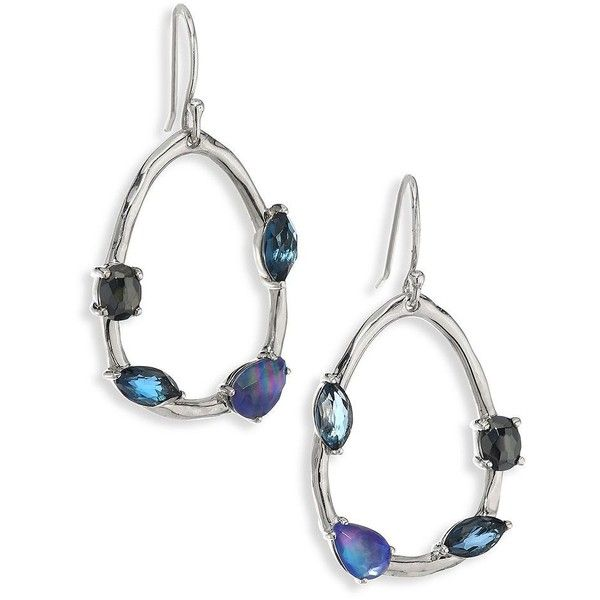 IPPOLITA 925 Rock Candy Gelato Semi-Precious Multi-Stone Drop Earrings ($795) ❤ liked on Polyvore featuring jewelry, earrings, semi precious earrings, semi precious stone jewellery, tri color earrings, rock jewelry and ippolita jewelry