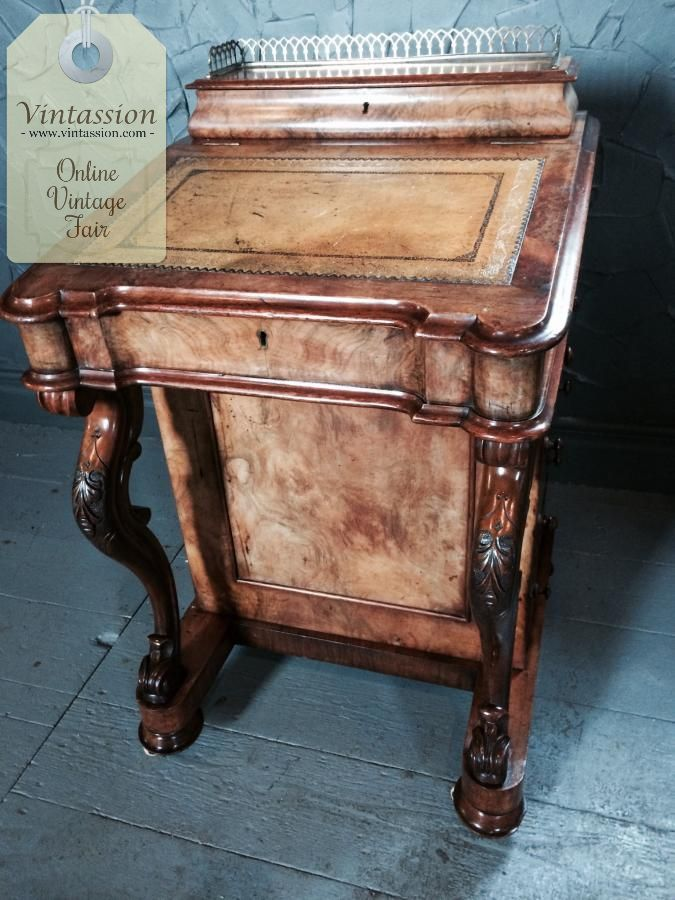 Beautiful #Antique #Davenport #Desk circa #1850, £1295.00 by @_WightHart  https://… | Enjoy Browsing Sellers Latest Online Vintage Fair Fab Offerings. - Beautiful #Antique #Davenport #Desk Circa #1850, £1295.00 By @_
