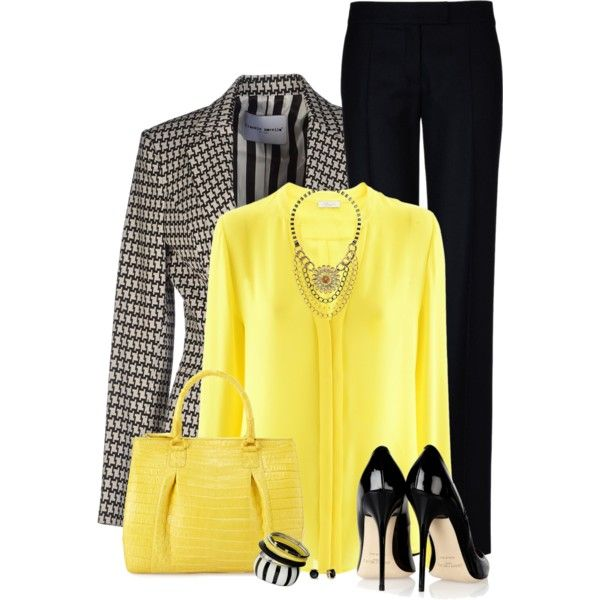 Yellow Bag by daiscat on Polyvore featuring iHeart, Frankie Morello, STELLA McCARTNEY, Nancy Gonzalez, Dorothy Perkins, Topshop, Kate Spade and Jimmy Choo