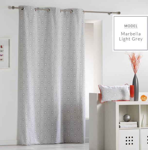 Kvalitné závesy svetlo sivej farby s nórskymi vzormi