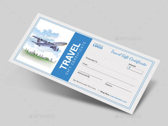 11 Travel Gift Certificate Templates Free Sample Example