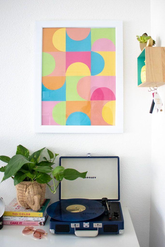 Simple Diy Geometric Paper Wall Art Diy Home Decor Pinterest