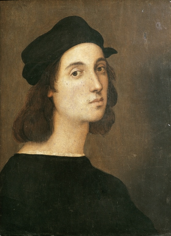 Raphael (1483-1520) : Self Portrait, 1504-1506, Uffitzi, Florence.