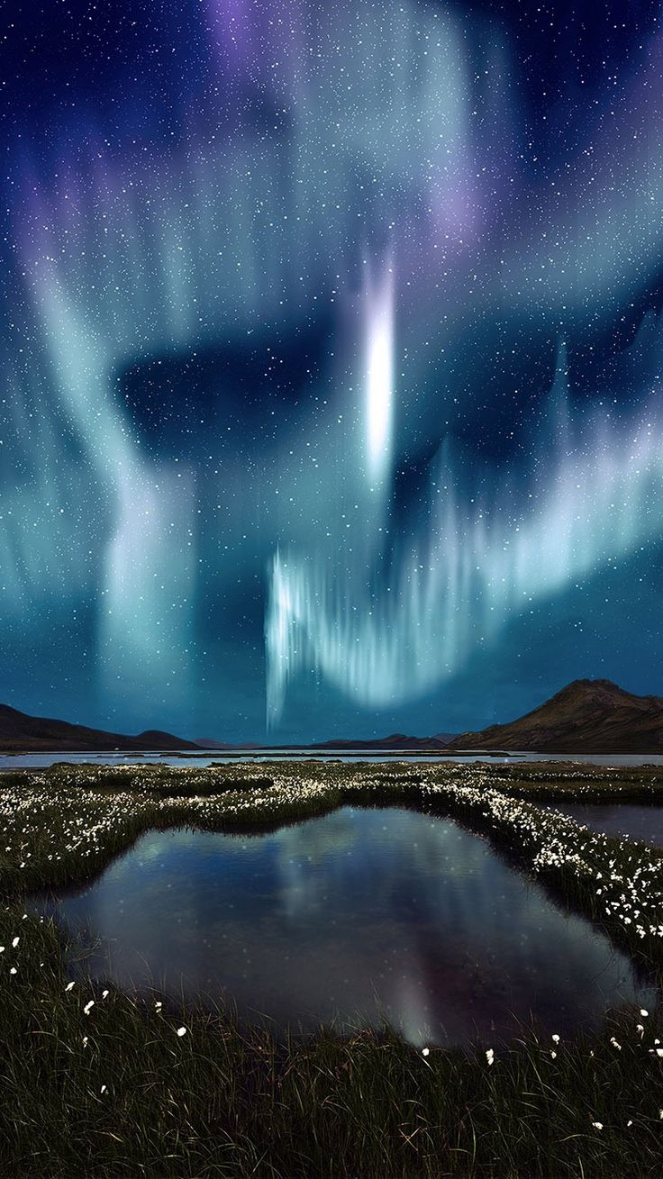 Wonderful Northern Light Nature Night Wallpaper For