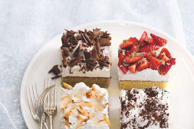 5x třímlékový koláč