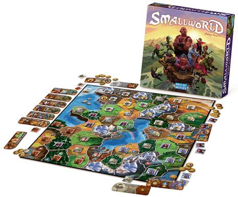 SmallWorld.  Family/territory game.  8+