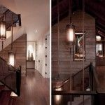 Contemporary Staircase Design Ideas with Glass Barriers and Wooden Frame
