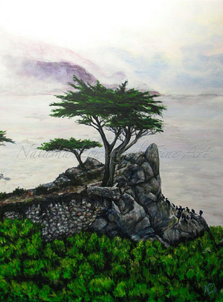 """Lone Cypress"" original acrylic on canvas www.natashalowenthal.com NatashaLowenthalFineArt on Facebook"