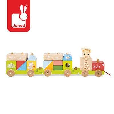 Pociąg drewniany Żyrafa Sophie - Trafiony prezent