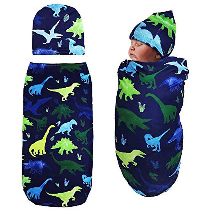 Newborn Swaddle Sack with Baby Hat Sleeping Sack S…
