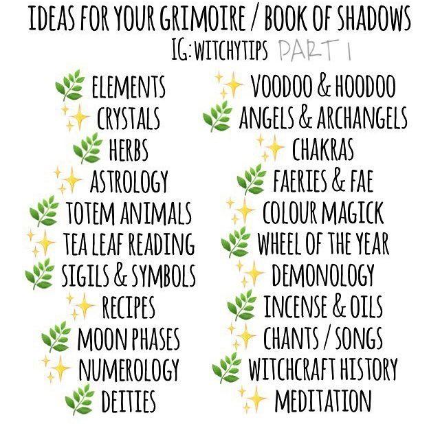 ✨ ideas BOS book of shadows