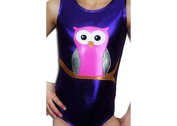 Gymnastics Leotards Girls Purple Mystique OWL by AEROLeotards, $39.98