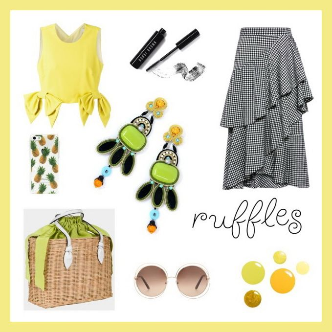 Need outfit ideas, fast?! We picked for you the perfect Dori earrings for this season's hottest trends!  #doricsengeri #greenery #springfashion #statementearrings #greenearrings #rufflestrend #ruffles #coutureearrings
