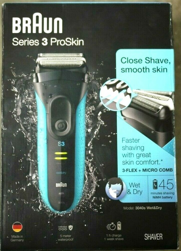 Ebay Sponsored Braun Series 3 Proskin 3040s Men S Electric Shaver Rechargeable New Electric Shaver Shaver Electric Shaver Men