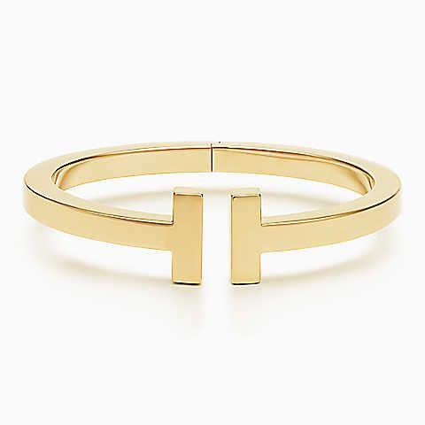 Tiffany T square bracelet in 18k gold, medium.