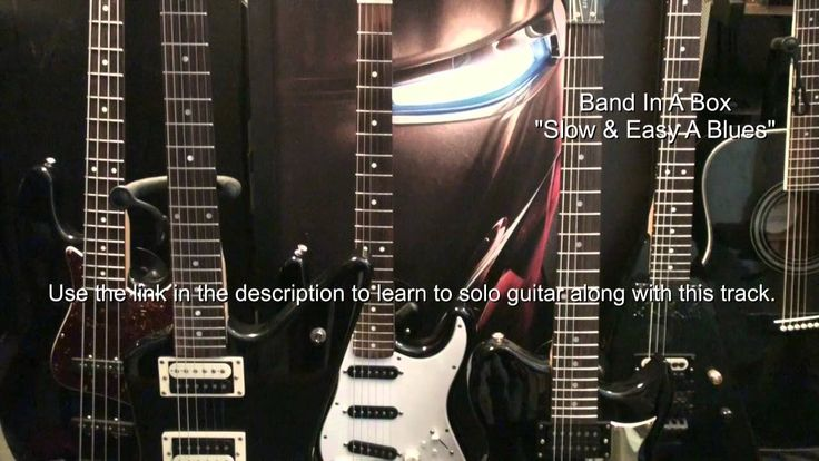 Slow & Easy Blues In A Backing Track & Lesson Link BIB