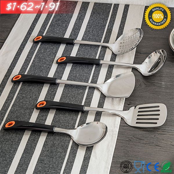 Good Name: Non-Magnetic Stainless-Steel Kitchenware Spoon      Model No.: CNSG-02003   Material: S-S+ABS       Size: 27.2(L)x7.5(H)cm/33(L)x9.2(H)cm Net Weight: 160g/185g   Applications: hold soup&rice...  For detail info.&offer, please contact us directly by email: cncommoditysale@gmail.com
