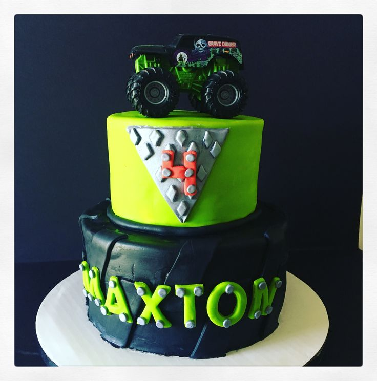 Best 25 Grave Digger Cake Ideas On Pinterest Monster