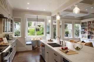 Idea per cucina e salotto in spazio discreto