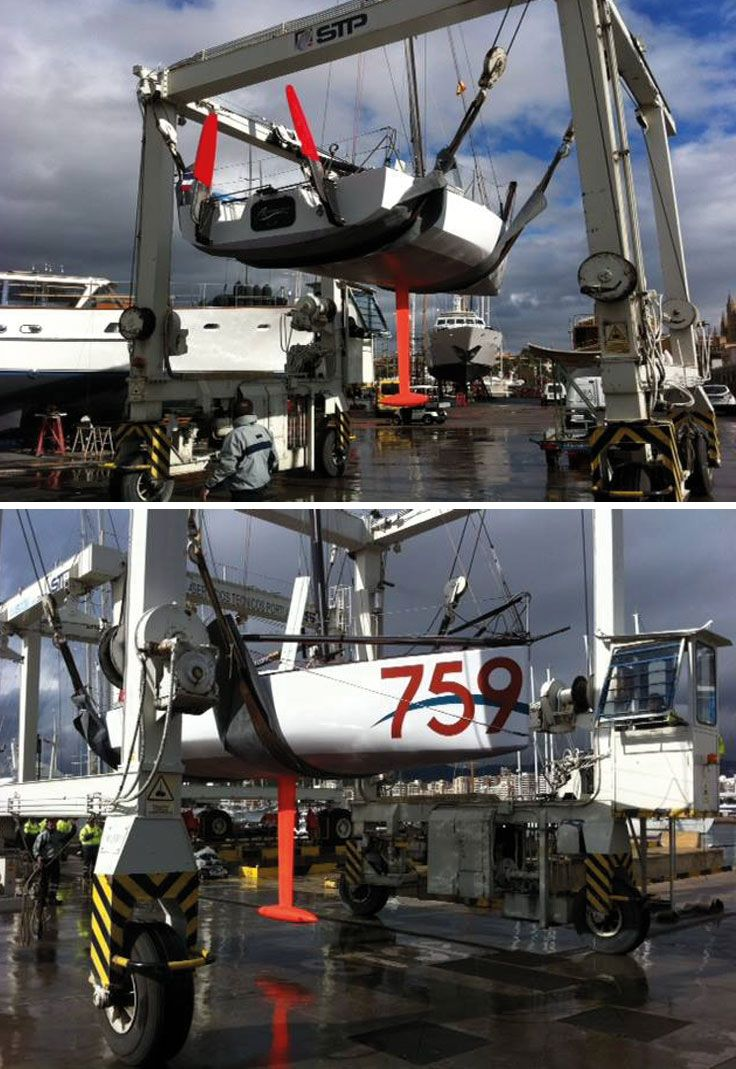 #Update: #MiniTransatRace 2015 So the #refit on the mini 759 is officially over & @Rmouchel_346 launched Her safely back into the waters on #Friday, where he promptly took the #759 out for a sail to check her #rig & make sure everything on the boat was in fine working order. It turned out to be a successful afternoon of sailing!  Photo Credit to: Romain Mouchel Website: http://romainmouchel.com/ Facebook: Romain Mouchel-Navigateur  Twitter: @Rmouchel_346 www.technocraftsl.com