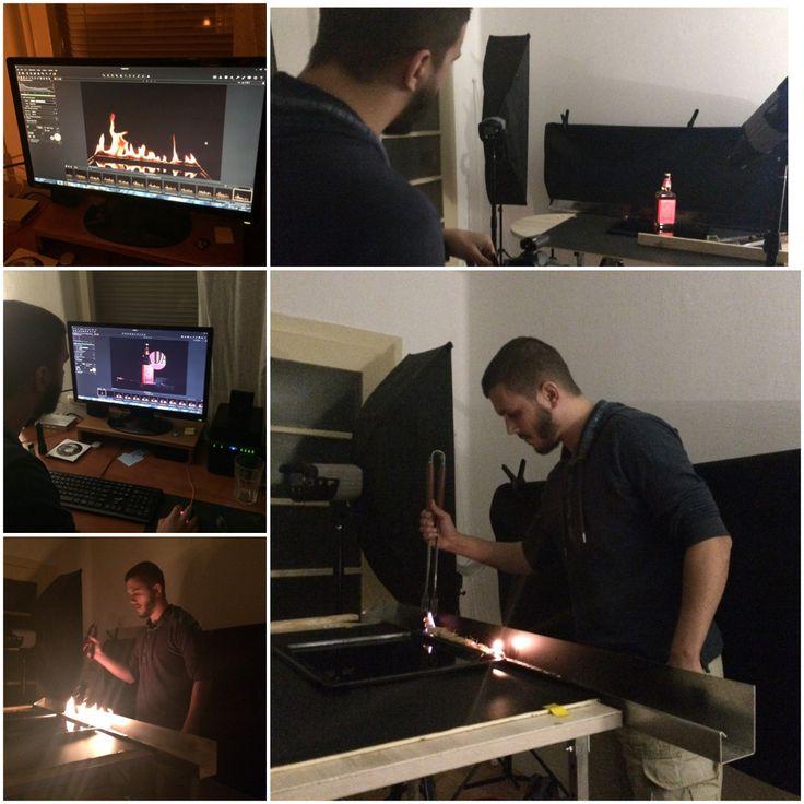 BTS, behind the scenes, jack Daniel's fire shooting.