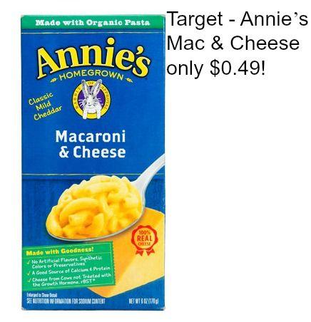 Target - Annie's Mac & Cheese only $0.49! - http://dealmama.com/2017/04/target-annies-mac-cheese-0-49/