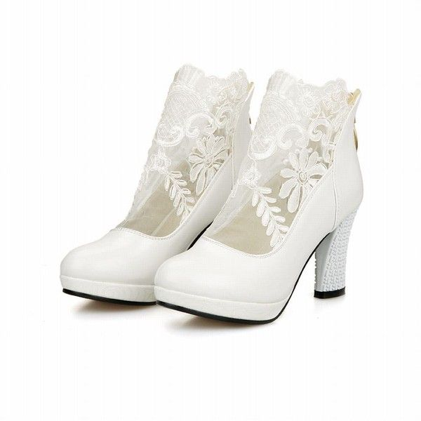 1000  ideas about White Ankle Boots on Pinterest | White women's ...