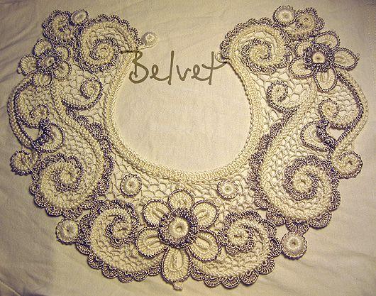 Irish crochet collar by Victoria Belvet