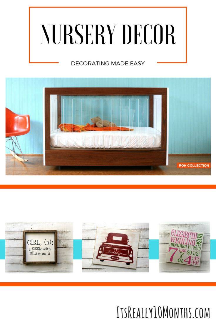 Amazing decor ideas for your baby's nursery. Ideas for anyone to create the perfect place for their newborn.