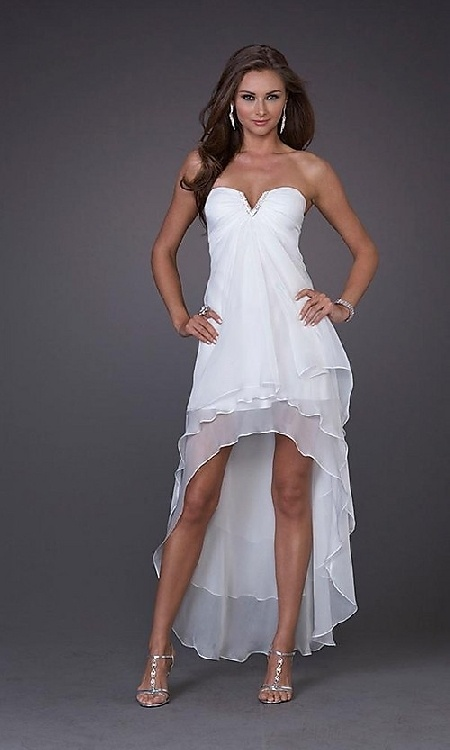 prom dresses short front long back