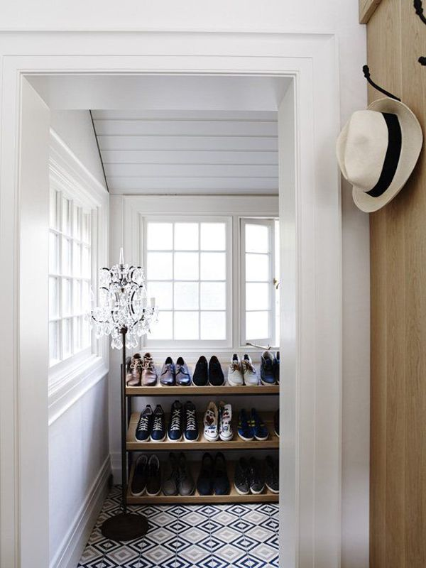 This Is Your Dream Master Bedroom Suite: Previously Unused Spaces In The  Heritage Home Have Now Been Occupied. This One, With A Custom Made Shoe  Rack.