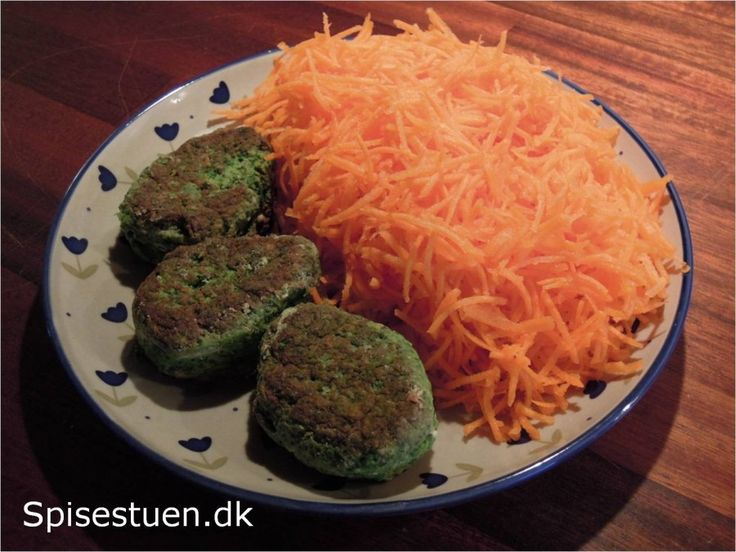 fastedag  5 : 2     kyllinge-spinat frikadeller  med 200 gram revne gulerødder