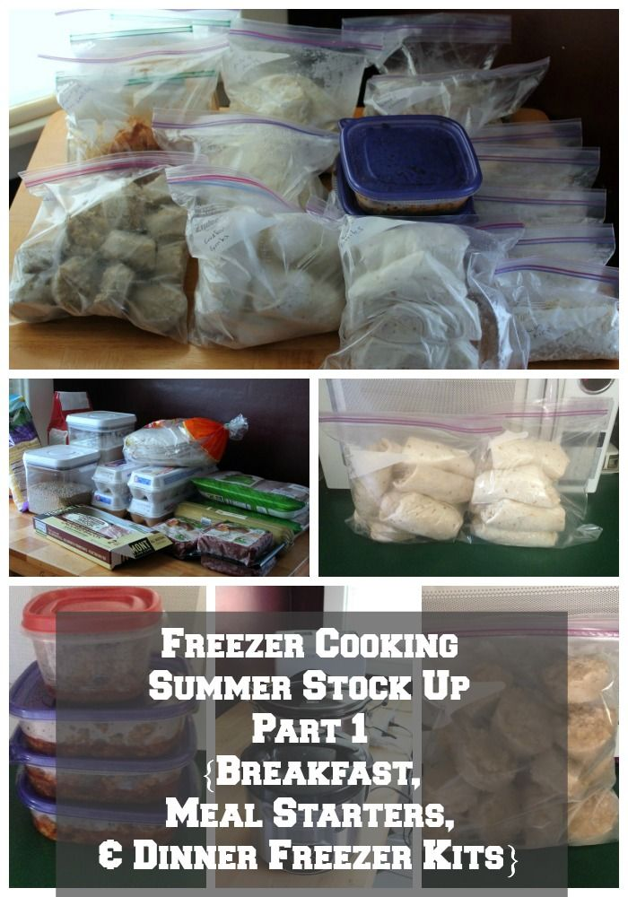 Freezer Cooking Summer Stock Up {Breakfast, Meal Starters, And Dinner Freezer Kits} All recipes included