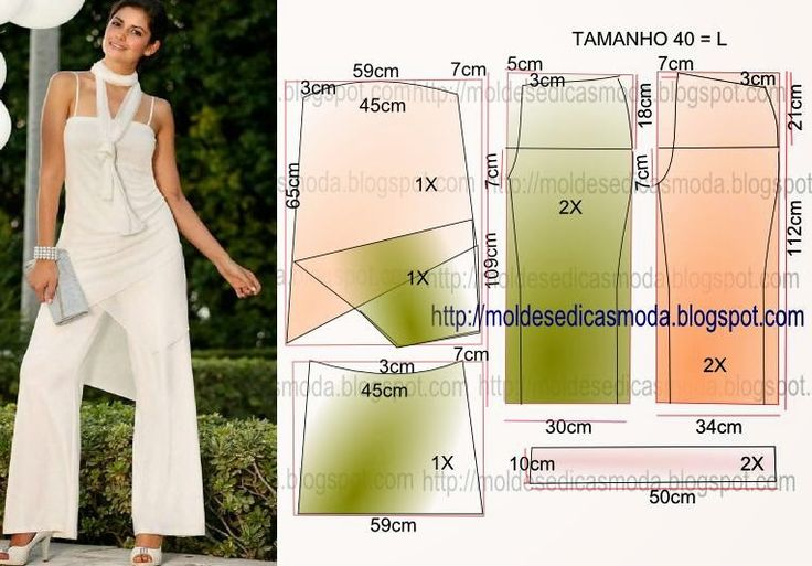 OVERALL EASY TO MAKE 3 ~ Fashion Templates for Measure