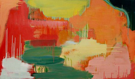 From the Mountains to the Valleys - 2014  Oil on canvas board  91 x 152 cm