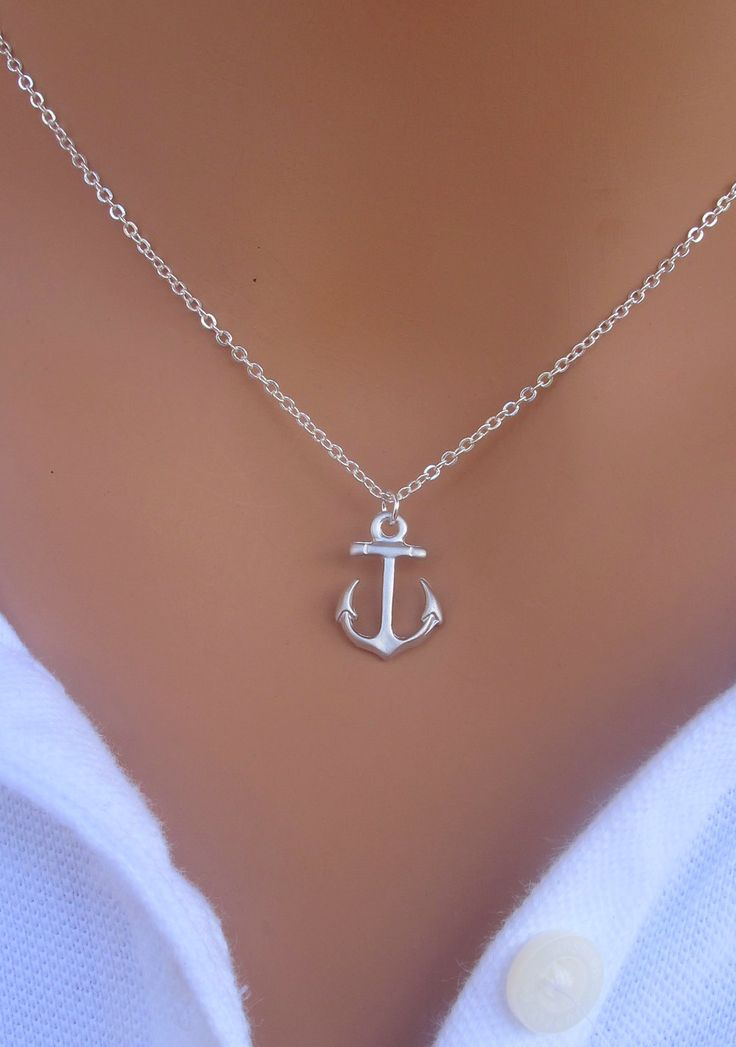 My Anchor necklace in STERLING SILVER.. $23.00, via Etsy.
