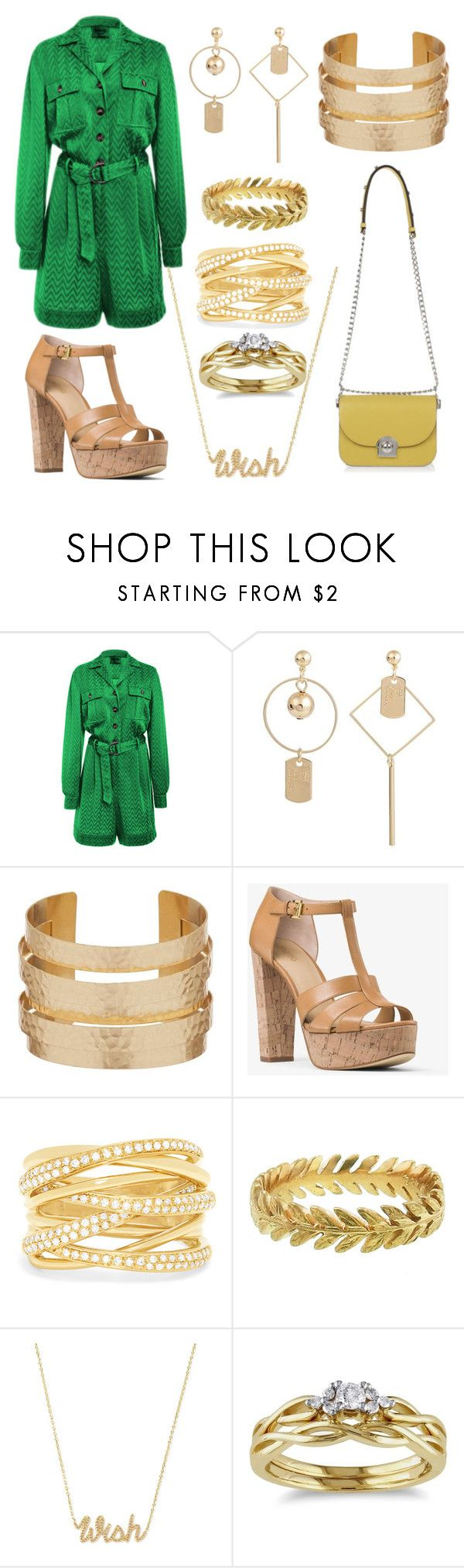 """""""She looks so perfect"""" by the-game-is-something ❤ liked on Polyvore featuring MICHAEL Michael Kors, Effy Jewelry, Cathy Waterman, Henri Bendel, Miadora and Prada"""