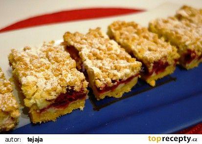 Malinový koláč s pudinkem recept - TopRecepty.cz