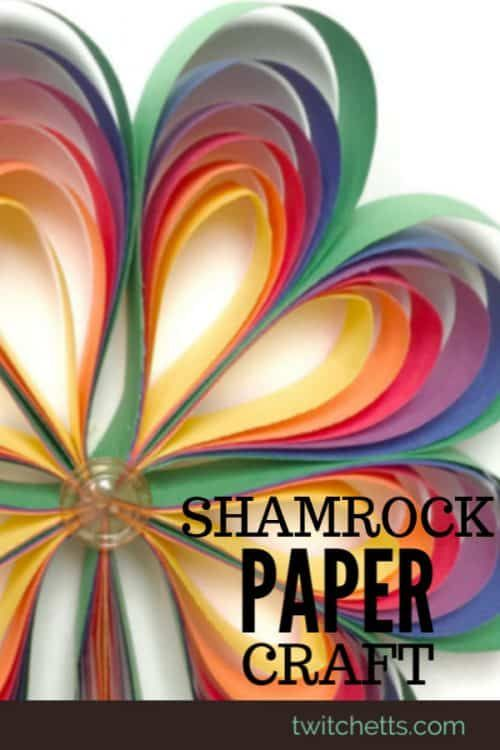 How to make 3D rainbow colored paper shamrocks in 2020 ...