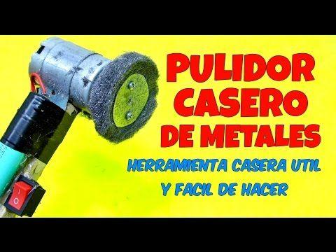 (1321) PULIDOR DE METALES CASERO FACIL DE HACER Maquina Pulidora Casera Limpiador De Acero Inoxidable - YouTube