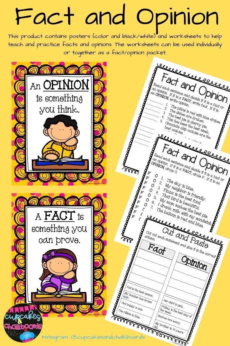 medium resolution of Fact and Opinion Worksheets and Posters   Fact and opinion