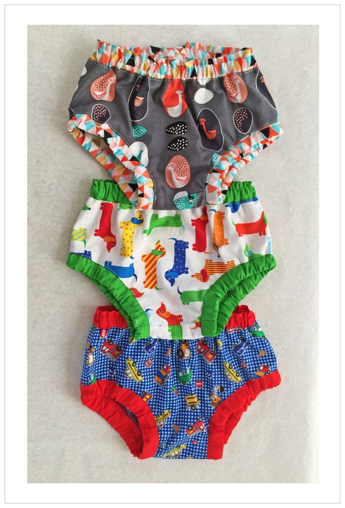 Baby & toddler diaper cover/ over pants pdf sewing pattern, 3 months - 4 years, boys & girls.