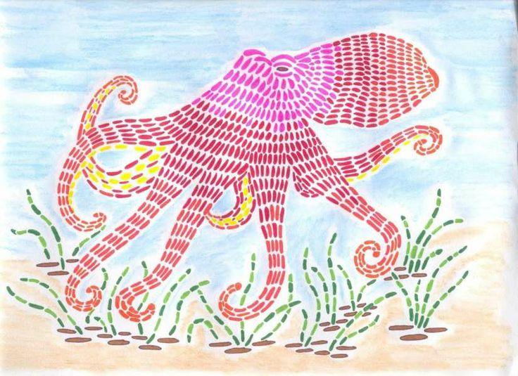 Martha Cohen Art for Everyone - Mosaic Octopus