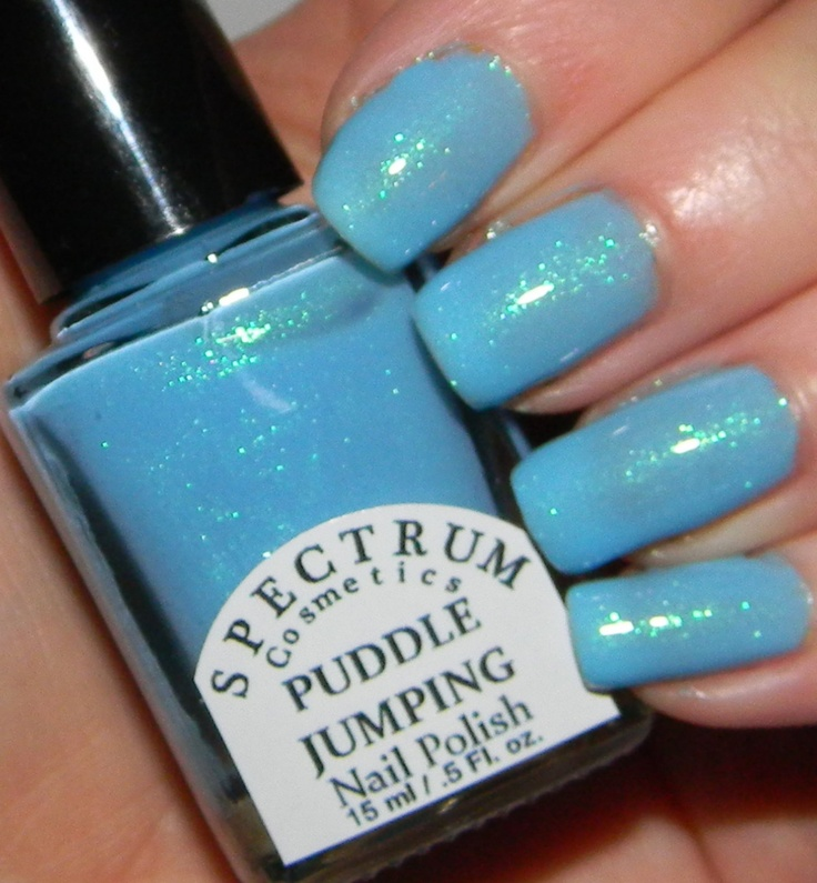 PUDDLE JUMPING Pastel Blue Spring  Nail Polish by SpectrumCosmetic, $8.00