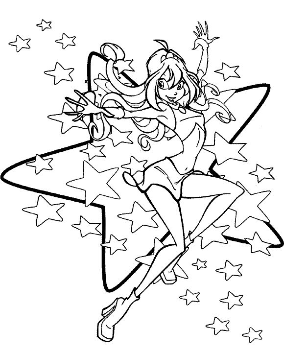 Coloring Pages Cartoons Winx Club